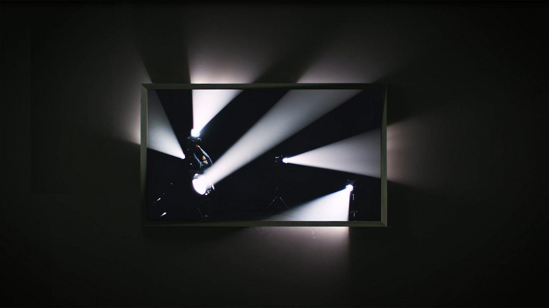 L'image éclaire - Écran faisceaux - Exposition Panorama 17, Le Fresnoy - 2015 / Credits : RF Studio