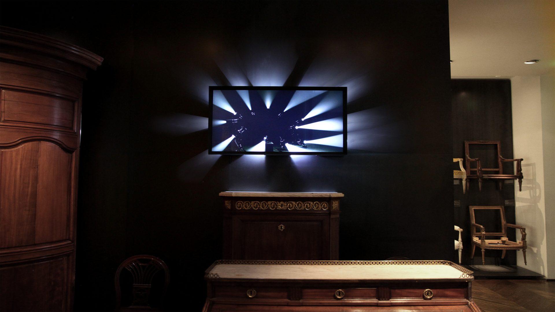 L'image éclaire - Écran Faisceaux - Musée des Arts décoratifs de Paris, 2016 / Credits : RF Studio