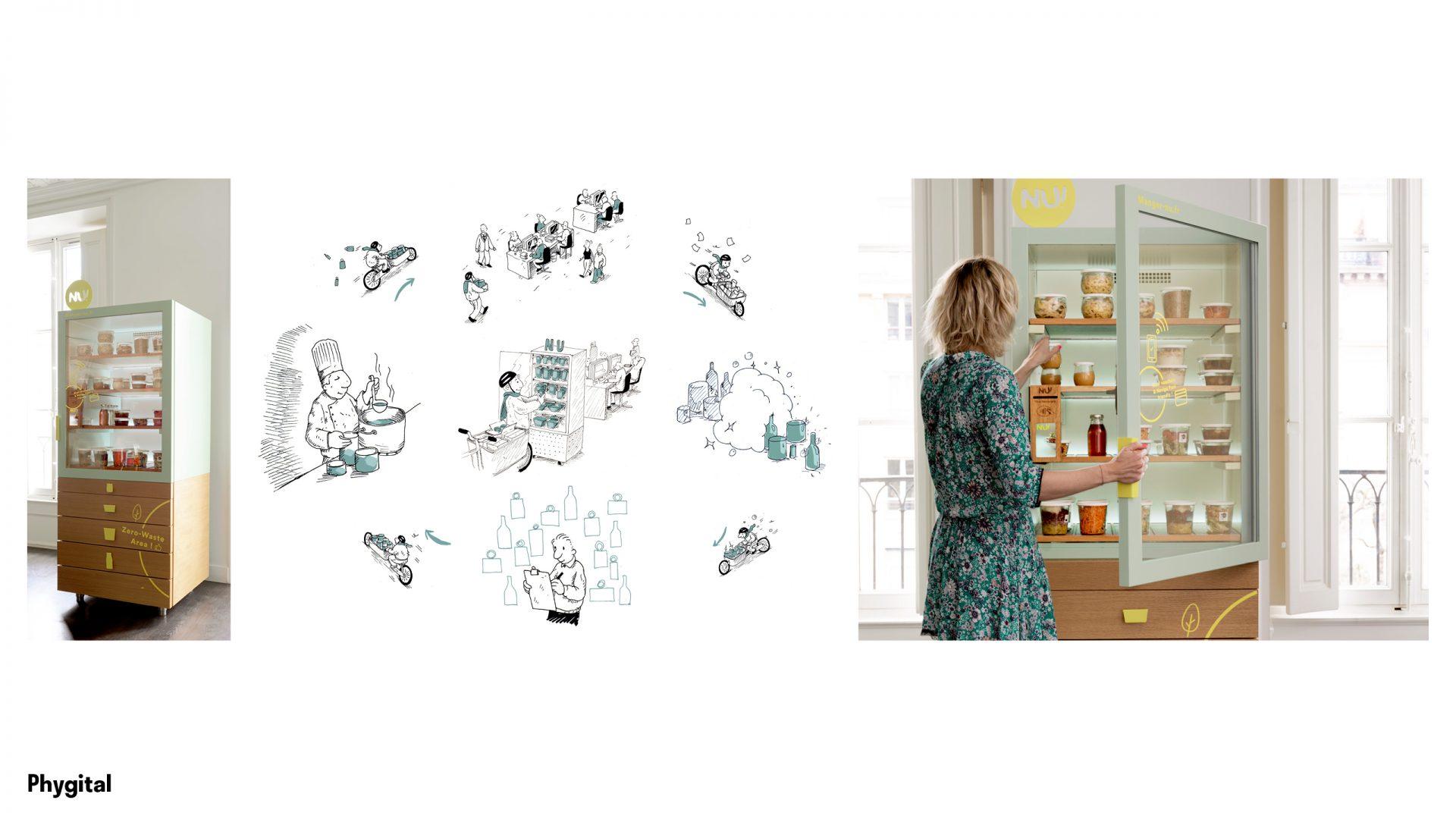 NU! Réfrigérateur connecté zéro-déchet, la nouvelle solution de restauration au bureau