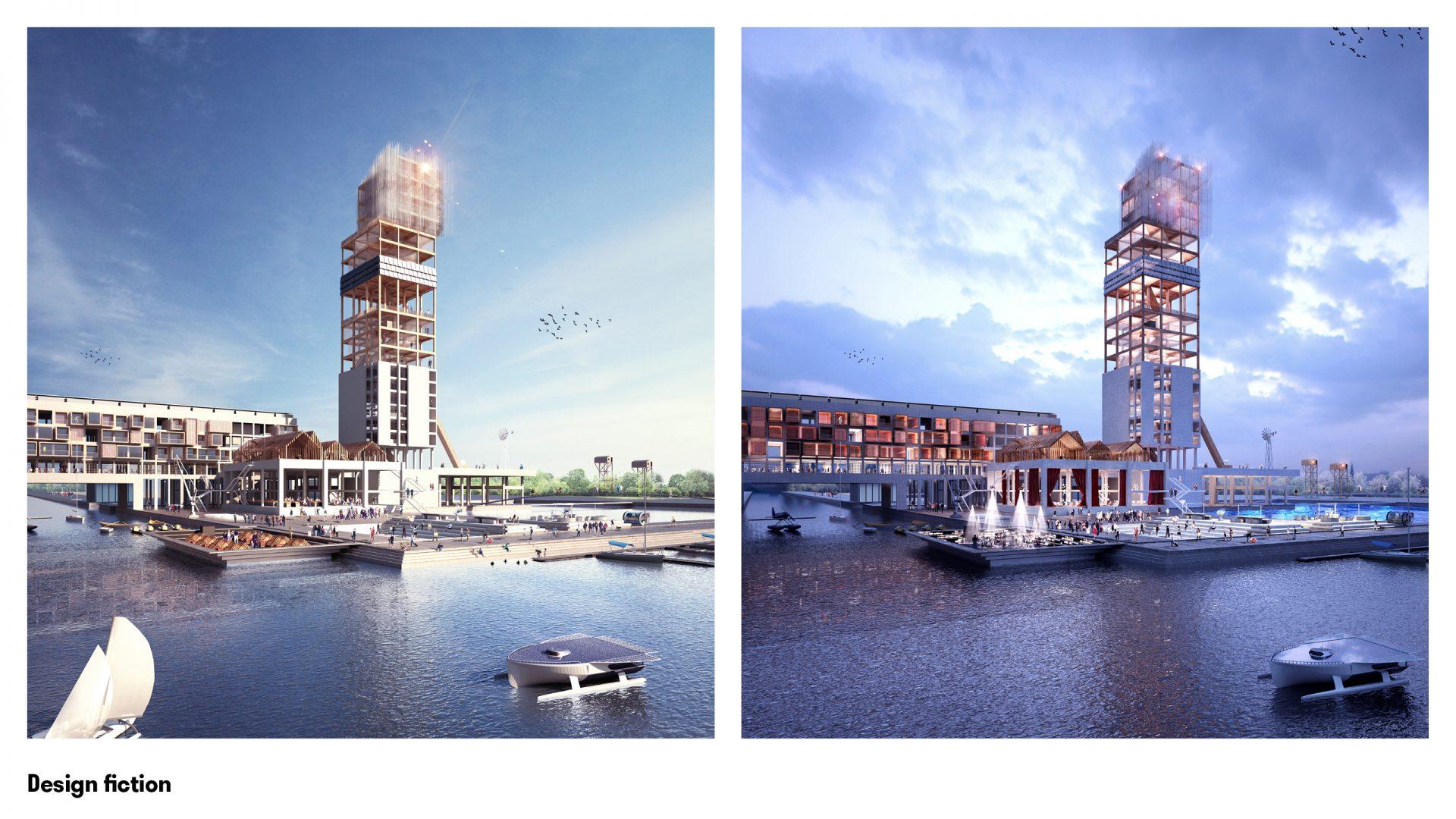Axionomia, concours EDF Bas Carbone - 2017 / RF Studio en collaboration avec l'Atelier d'Architecture Vincent Parreira